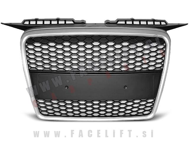Audi A3 / 8P (05-08) / maska / RS izgled / srebrna (mat)