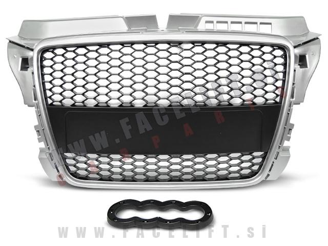 Audi A3 / 8P (08-12) / maska / RS izgled / srebrna
