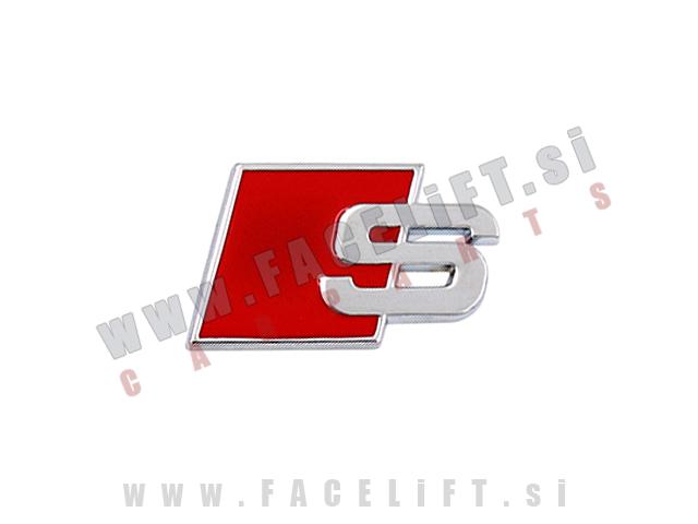 Audi / S emblem (3D nalepka)