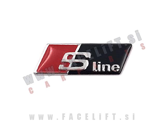 Audi / S-Line emblem (3D nalepka) za volan