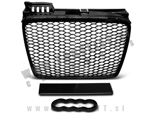 Audi A4 / B7 8E (04-08) / maska / RS izgled / črna (sijaj)