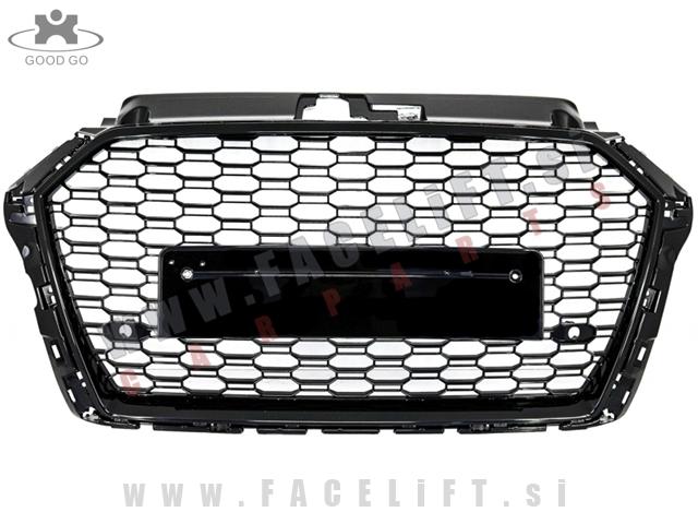 Audi A3 / 8V (16- ) / maska / črna (sijaj) / RS3
