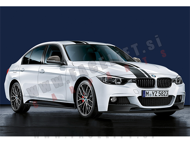 BMW / M-Performance nalepke / bele