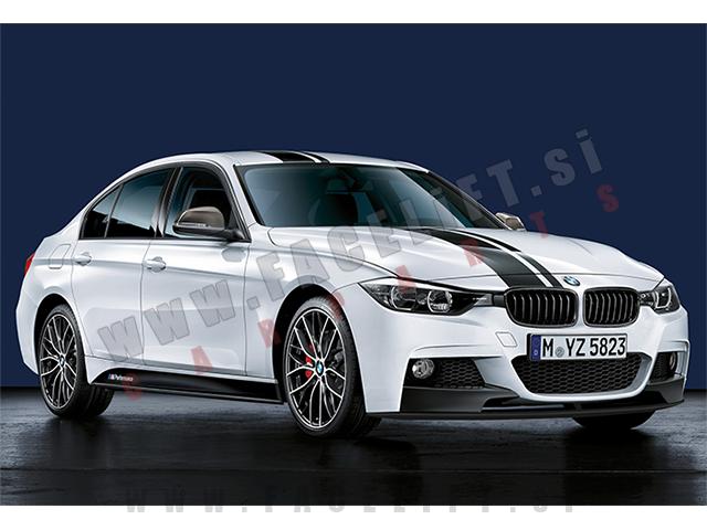 BMW / M-Performance nalepke / črne