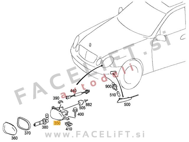 Mercedes R / V251 (05-17) / meglenka / desna
