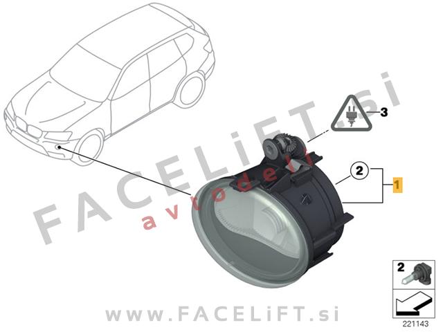 BMW X3 / F25 (10-17) / meglenka / desna