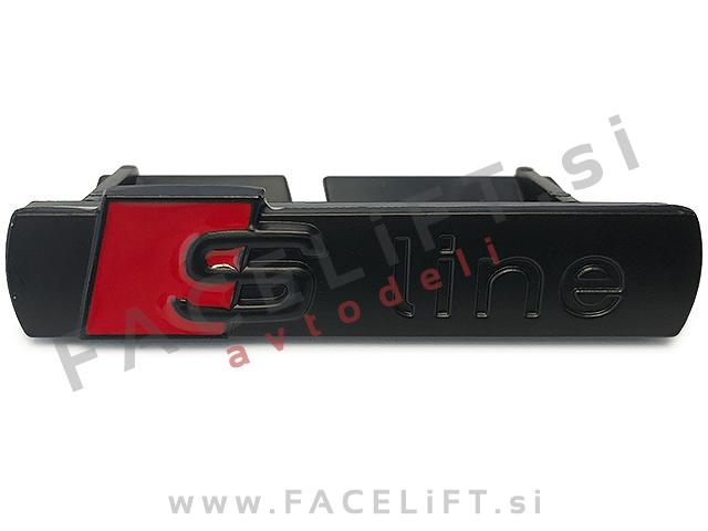 Audi / S-Line emblem za masko / črni (mat)
