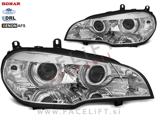 BMW X5 / E70 (06-10) / bi-xenon žarometi / DRL / AFS