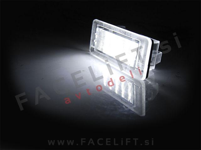 Dacia Renault / LED osvetlitev registrske tablice z ohišjem