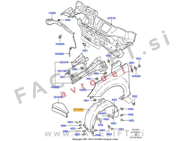 Ford Focus C-Max / C214 (03-07) / sprednji kolotek / levi