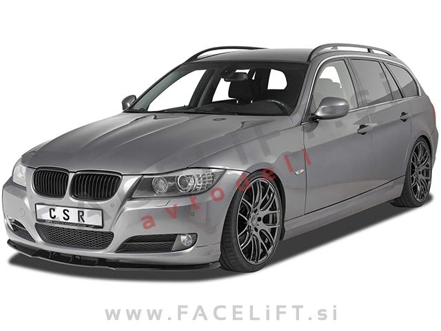 BMW 3 / E90 E91 LCI (08-12) / front bumper spoiler / carbon (glossy)