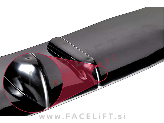 Ford Focus RS / (08-11) / front bumper spoiler / black (glossy)
