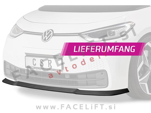 VW ID.3 19- front bumper spoiler carbon (matt)