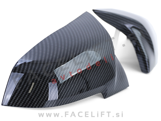 BMW 1 F20 F21 11-19 mirror covers M1 look carbon (glossy)