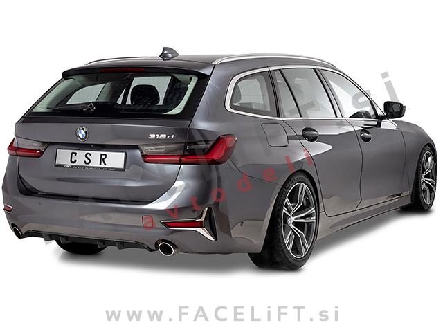BMW 3 G20 G21 19- rear bumper diffuser black (glossy)