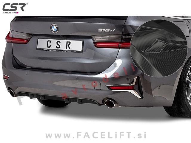 BMW 3 G20 G21 19- rear bumper diffuser carbon (glossy)