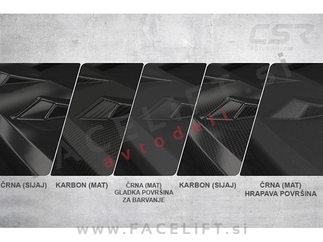 Škoda Fabia RS 5J 10-15 front bumper spoiler black (glossy)