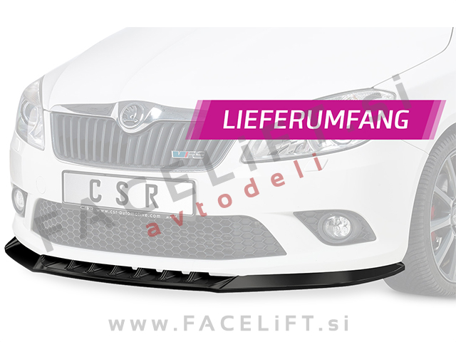 Škoda Fabia RS 5J 10-15 front bumper spoiler carbon (matt)
