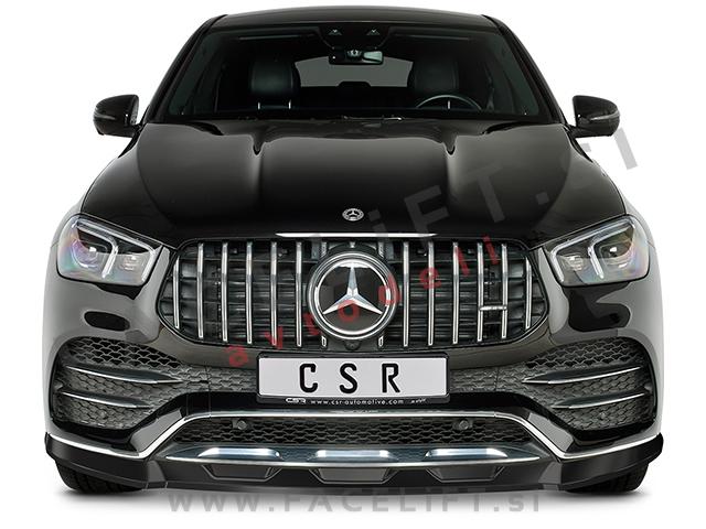 Mercedes GLE Coupe AMG-Line C167 19- front bumper spoiler black (matt)