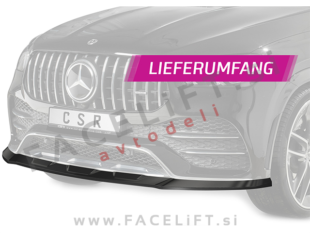 Mercedes GLE Coupe AMG-Line C167 19- front bumper spoiler carbon (glossy)