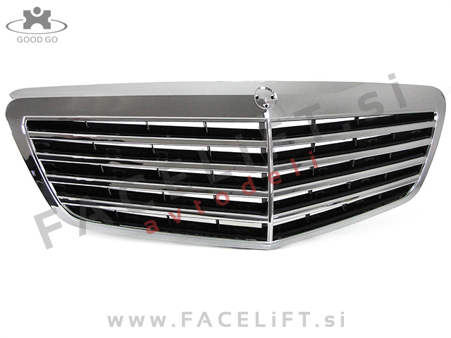Mercedes S W221 09-13 grill Chrome (glossy)