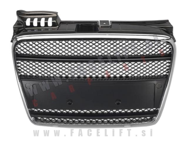 Audi A4 / B7 8E (04-08) / maska / črna kromirana
