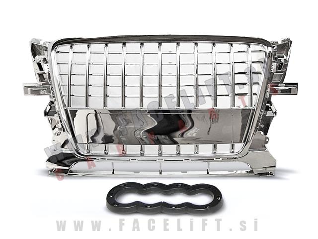 Audi Q5 / 8R (08-12) / maska S-Line izgled / krom