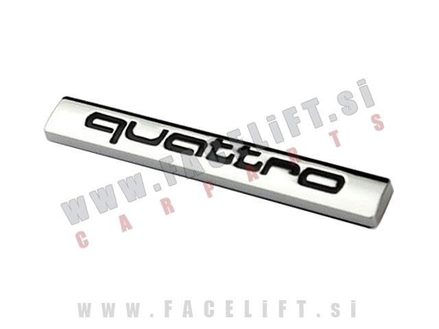 Audi / Quattro emblem (3D nalepka)