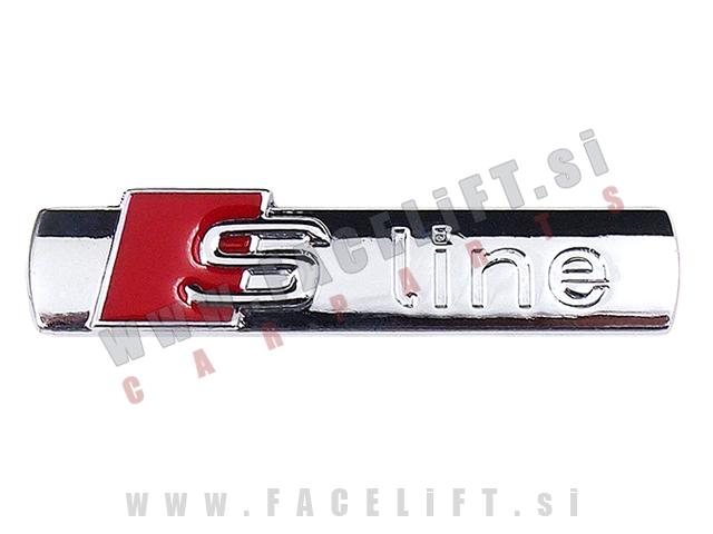 Audi / S-Line emblem (3D nalepka) / kromirana (sijaj)