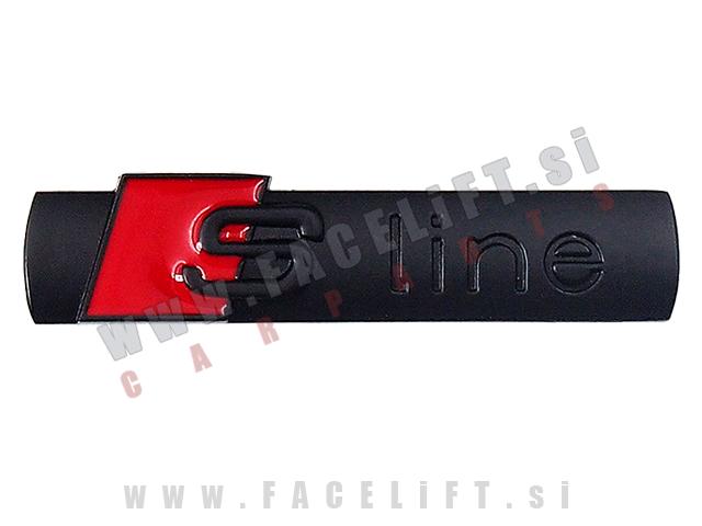 Audi / S-Line emblem (3D nalepka) / črna (mat)