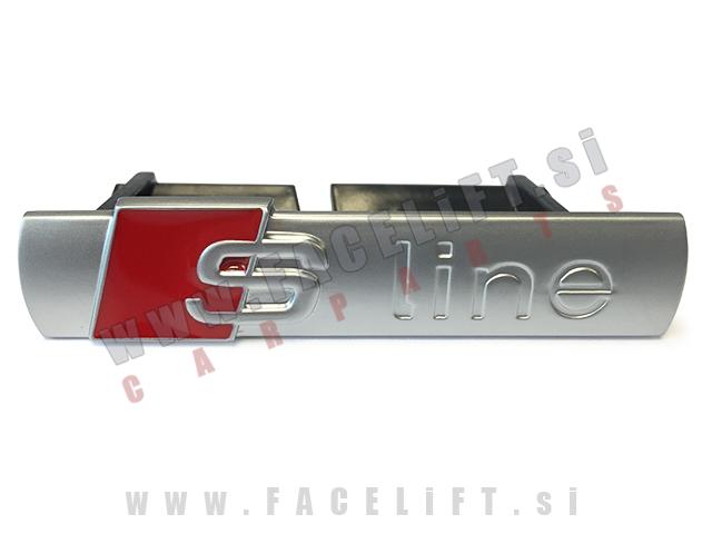 Audi / S-Line emblem za masko / srebrni