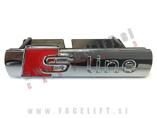Audi / S-Line emblem za masko / kromiran