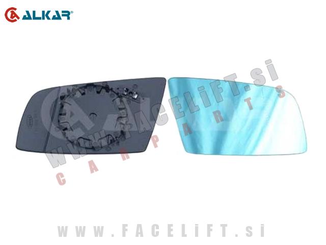 BMW 5 / E60 E61 (03-10) / steklo ogledala / ogrevano / modro