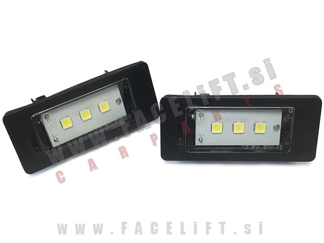 BMW 5 / E60 E61 (03-10) / LED osvetlitev registrske tablice z ohišjem