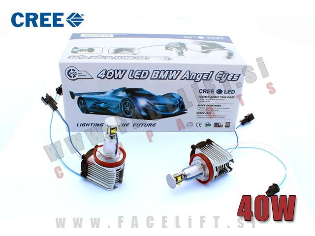 BMW E60/61 E63/64 E70/71 E81/82/87/88 E90/91/92/93 / LED Angel Eyes markerji H8 40W