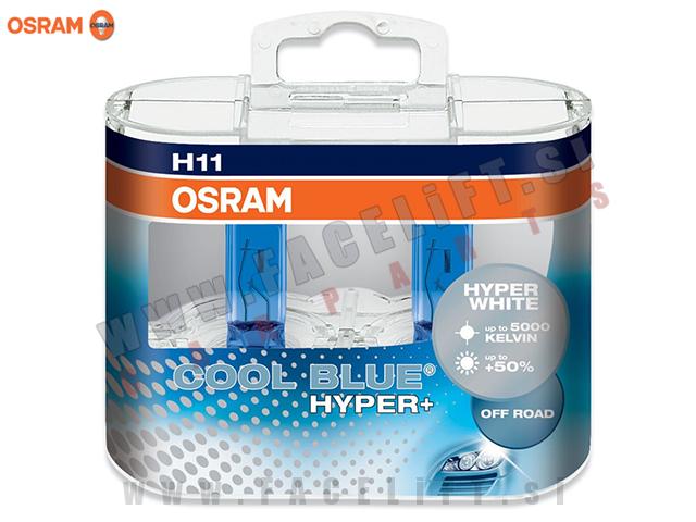 Halogenske žarnice Osram Cool Blue Hyper Plus 5000K H11 55W 12V