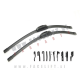Silikonske brisalne metlice / univerzalen priklop / 6x adapter