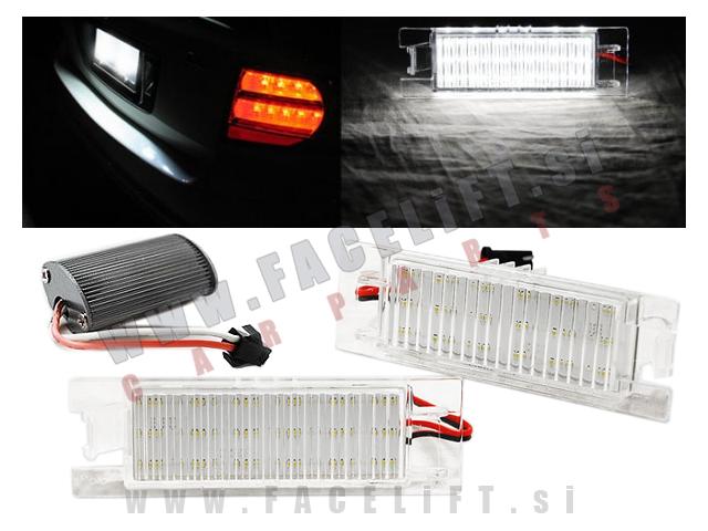 Opel / LED osvetlitev registrske tablice z ohišjem